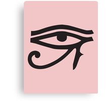 Eye of Horus Pink Canvas Print
