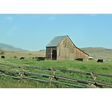 Old Barn in Oregon Photographic Print