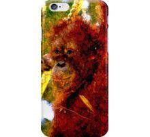 Orangutan fibre iPhone Case/Skin
