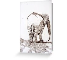 THE ELEPHANT'S REAR GUARD Greeting Card
