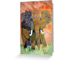 ELEPHANT CHARGING Greeting Card