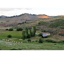 Farm in Eastern Oregon Photographic Print