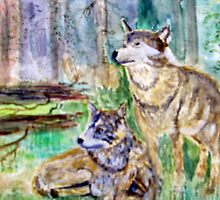 TIMBER WOLVES by GEORGE SANDERSON