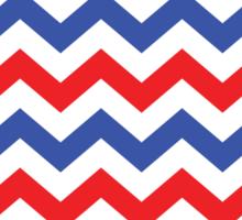 Red, White, and Blue Chevron Pattern Sticker