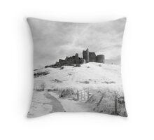 Castle Carreg Cennen Throw Pillow