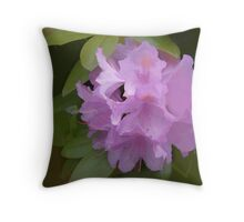 Abstract of pale Lilac Rhodie Throw Pillow