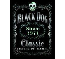 BLACK DOG LABEL - REEL STEEL Photographic Print
