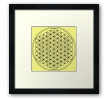 Flower of Life Lemon Framed Print