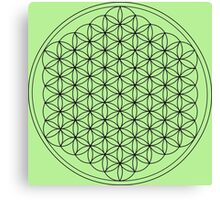 Flower of Life Green Canvas Print