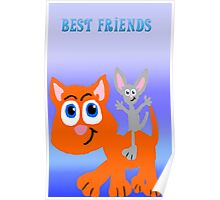 Kitten and Mouse Best  Friends Poster