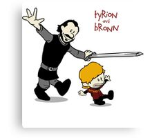 Tyrion and Bronn- Game of Thrones Shirt Canvas Print