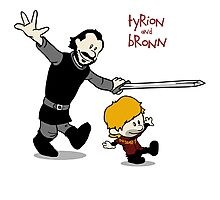 Tyrion and Bronn- Game of Thrones Shirt Photographic Print