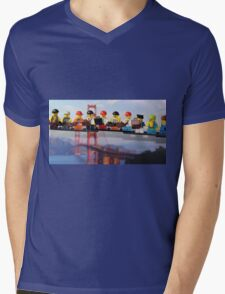 High-rise lunch break, Golden Gate Bridge Mens V-Neck T-Shirt