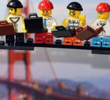 High-rise lunch break, Golden Gate Bridge Sticker