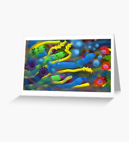 Water Plant Life Greeting Card