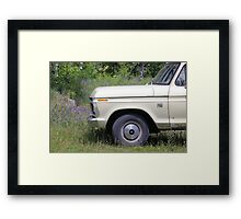 the green gorilla Framed Print