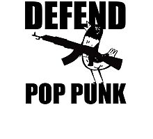 Hank The Pigeon, Defend Pop Punk Photographic Print