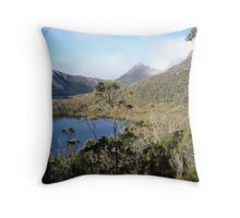 Lake Lilla and the iconic Cradle Mt, Tasmania, Australia Throw Pillow