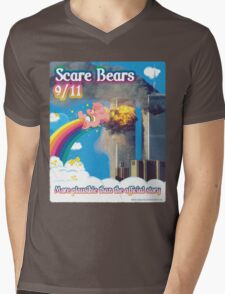 Scare Bears 9/11 Mens V-Neck T-Shirt