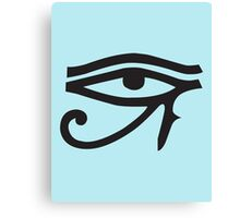 Eye of Horus Blue Canvas Print