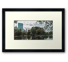 Boston Greenery Framed Print