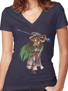 Palutena Women's Fitted V-Neck T-Shirt