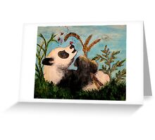 Playing in Spring Greeting Card