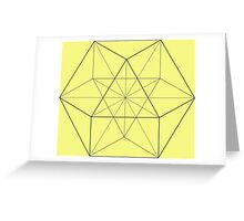 Cube Octahedron Lemon Greeting Card
