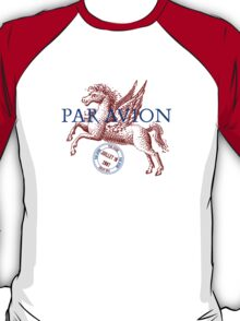 Winged Horse Par Avion Series T-Shirt