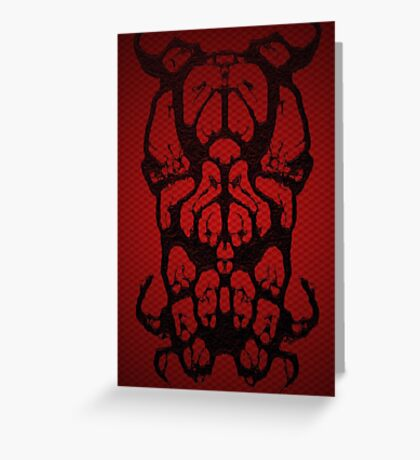 Bulldog 2 Spider Greeting Card