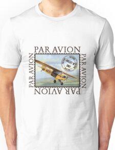 Vintage Airplane Par Avion Series Unisex T-Shirt