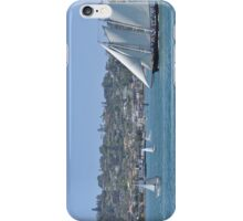 Sail Boat in The Harbor iPhone Case/Skin