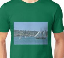 Sail Boat in The Harbor Unisex T-Shirt