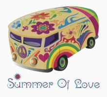 Summer of Love 60's Hippie  Bus by Zehda
