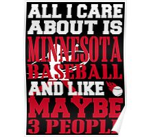 ALL I CARE ABOUT IS MINNESOTA BASEBALL Poster