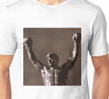Rocky Statue at Night Unisex T-Shirt