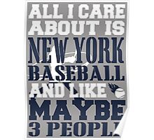 ALL I CARE ABOUT IS NEW YORK YANKEES BASEBALL Poster