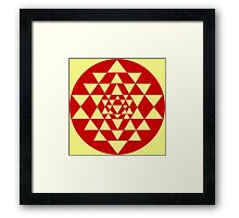 Sri Yantra Lemon Framed Print