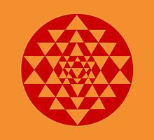 Sri Yantra Orange by John Girvan