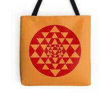 Sri Yantra Orange Tote Bag