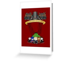 Ultrons Puppets Greeting Card