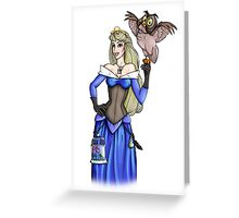Steampunk Aurora - Sleeping Beauty - Blue Greeting Card