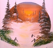 Winter Sunset In A Circle by Collin A. Clarke