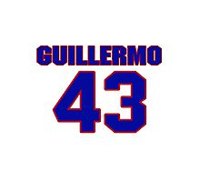 National baseball player Guillermo Velasquez jersey 43 Photographic Print