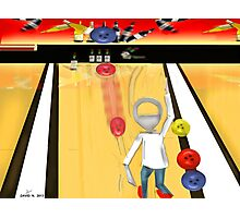 Corky's playing Bowling Photographic Print