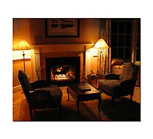 Come sit by the fire..... Photographic Print