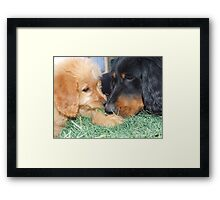 Zoe and Tessa Framed Print