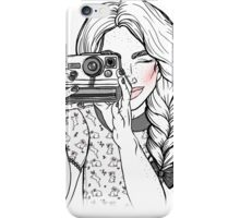 Girl with Camera iPhone Case/Skin