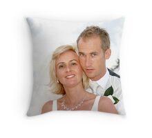 The Bride & Groom Throw Pillow