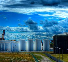 Botany Fuel Storage - Botany Bay, Sydney, Australia by Mark Richards